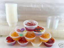 500 Cups with 500 Lids Choice 2 oz. LARGE PLASTIC CUP JELLO Souffle Shot Portion