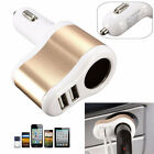 DC 12V 3.1A Dual USB Ports One Way Car Cigarette Lighter Socket Charger Adapter