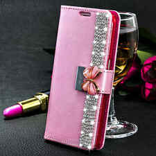 Luxury Bling Crystal Flip Stand Wallet Case Cover For Samsung Galaxy S7 Edge New