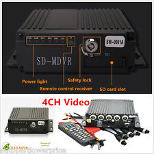 Portable 4CH Mobile HD DVR Video/Audio Realtime Recorder SD SW-0001A With Remote
