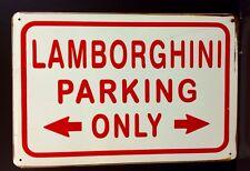 Lamborghini estacionamiento sólo Letrero De Metal/Garaje Vintage Decoración de pared (30 X 40cm)