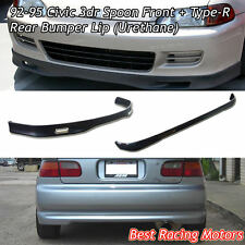 SPN Style Front + TR style Rear Lip (Urethane) Fits 92-95 Honda Civic 3dr