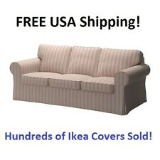 Ikea EKTORP Three (3) Seat Sofa Slipcover Cover MOBACKA BEIGE RED New! Sealed!