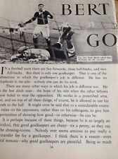 49400 1950s Article Football Bert Williams Goalkeeper