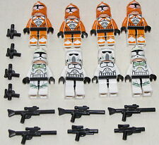 LEGO 8 NEW STAR WARS BOMB SQUAD CLONE STORM TROOPER FIGS 2 CUSTOM BLUE EYES 7913