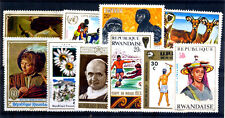 RWANDA Large 10 Different Thematic Mint Large Stamps