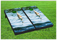 VINYL WRAPS Cornhole Boards DECALS Fishing at Sea BagToss Game Stickers 415