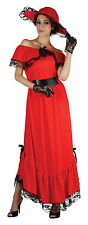 Ladies Scarlet O'Hara Fancy Dress Costume Gone With The Wind Outfit UK 10-14