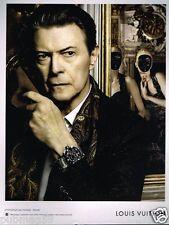 Publicité advertising 2013 Haute Couture Louis Vuitton avec David Bowie