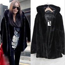 Plus Size Womens Faux Fur Winter Warm Parka Jacket Hooded Coat Outwear UK 8-20
