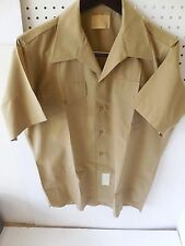 USMC Marine Officer's Service Dress Khakki Shoret Sleeve Shirt