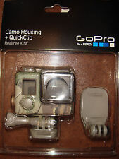 GoPro Camo Housing + QuickClip (Realtree Xtra) for GoPro HERO4,3+,3- Brand New!