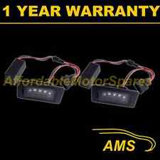 2X FOR VOLKSWAGEN PASSAT 2008-09 ALUMINIUM UPGRADE 3 CREE LED NUMBER PLATE LAMPS