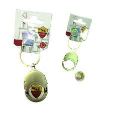 Portachiavi metallo + moneta sganciacarrello con stemma ROMA laccato