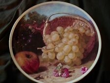 Eloise Harriet Stannard collector plate GRAPES from painting STILL LIFE W/ FRUIT