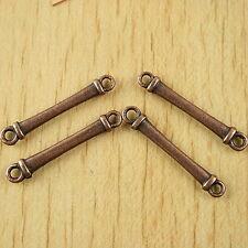 30pcs copper tone bar technics link connectors H1938
