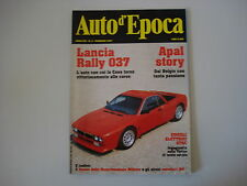 AUTO D'EPOCA 2/1997 LANCIA RALLY 037/VEICOLI ELETTRICI STAE/STORIA AUTO APAL