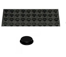 "40 lot 3M ™ BUMPON 3/4"" SELF ADHESIVE BLACK RUBBER FEET stick on equipment foot"