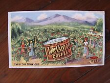 Vintage Ink Blotter Lord Calvert Coffee Colorful Scene Used