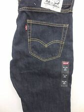 New Levi's Mens 511 1808 Slim Fit Skinny Straight Leg Dark Denim Jeans 34 X 34