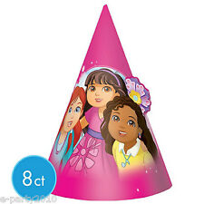 DORA THE EXPLORER AND FRIENDS CONE HATS (8) ~ Birthday Party Supplies Favors