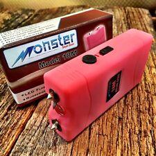 MONSTER PINK 18 Million Volt Stun Gun Rechargeable w/LED light New & HOLSTER