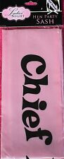 1x Chief Bridesmaid Sash ~ Finished In Pink With Black Writing.