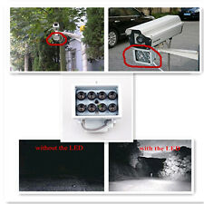 8LED 12V Night Vision IR Infrared Illuminator light For CCTV Camera Security 12V