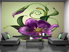 Beautiful Purple Flower Wall Mural Photo Wallpaper GIANT DECOR Paper Poster