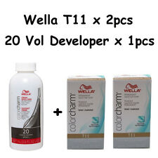 Wella Color Charm T11 Lightest Beige Blonde 2-Pack with 20 vol Cream Developer