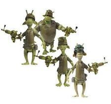 Animated Movie PLANET 51 Alien movie toy figures  SOLDIER ALIENS SET of 4