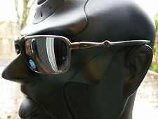 NEW! OAKLEY BADMAN Sunglasses Pewter / Tungsten Iridium Polarized OO6020-02