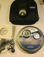 PHILIPS AX33003/052 Portable CD Player With Manual &  CASE