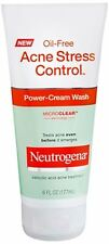 Neutrogena Acne Stress Control Oil-Free Power-Cream Wash 6 oz (Pack of 4)
