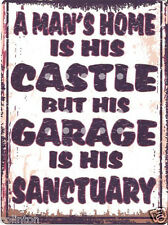 A MANS HOME IS HIS CASTLE SIGN VINTAGE STYLE 8x10in 20x25cm pub bar shop art
