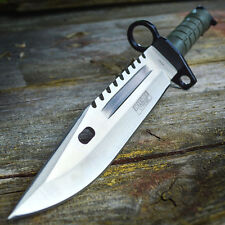 "13"" Military Survival Rambo Fixed Blade Hunting Knife Bayonet Tactical Bowie"