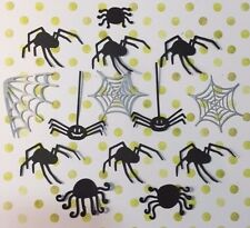 14 Die Cut Sizzix Halloween shapes MIXED SPIDERS & WEBS Cardmaking Crafting