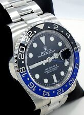 Rolex GMT-MASTER II 116710 BLNR BATMAN Black & Blue Ceramic Bezel MINT CONDITION