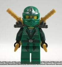 Lego New Ninjago Green Ninja Lloyd ZX Minifigure 9450 Epic Dragon w/Ninja swords