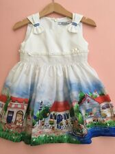 *MAYORAL CHIC* girls white Printed Dress (18-24 months) 24M A518