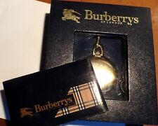 Rare authentique boxed vintage burberrys pocket watch & chaîne nouvelle batterie
