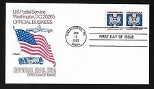 #O135 20c Great Seal - Artmaster FDC Coil Pair