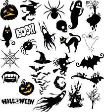 x24 PCS HALLOWEEN MEGA SET WATER TRANSFER DECALS STICKERS NAIL ART SET #653.