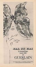 PUBLICITE ADVERTISING 015 1965 GUERLAIN le maquillage jeune fille