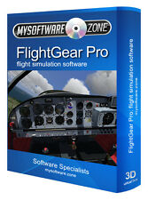 Flightgear simulatore di volo pc Pro Deluxe Professional software GIOCO SIM battenti