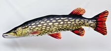GIANT Northern Pike Soft Toy, Stuffed Fish, pub, fishing angling, pillow, muskie