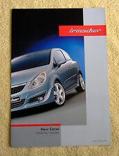 Vauxhall corsa d irmscher brochure modèles 2006 3 & 5 portes modèles