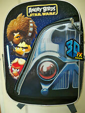 """ANGRY BIRDS Star Wars Backpackt FULL SIZE 16"""" FX-3D/Lenticular Black New Rovio"""