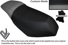 GREY & BLACK CUSTOM FITS MALAGUTI PHANTOM F12 100 DUAL LEATHER SEAT COVER