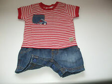 NEXT BABY BOY SHORTS WITH POPPERS T SHIRT SUIT FOR NEWBORN BABY UPTO 3 MONTHS